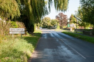 Chalgrove Village sign in to the High Street