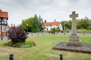 Chalgrove memorial and pubs